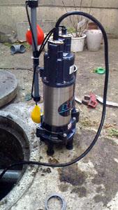 新しい汚水ポンプ
