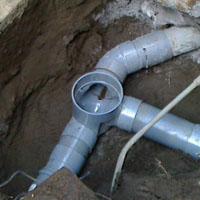 新しい排水マスに交換