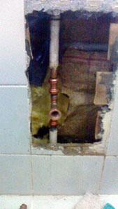 給湯管を補修