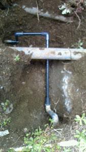 藤沢市給水管漏水補修後